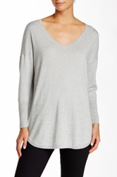 Joie Chyanne V Neck Sweater Gray