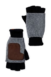 Ben Sherman Knit Fingerless Gloves Black