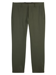 Marni Slim Fit Cropped Wool Trousers Grey
