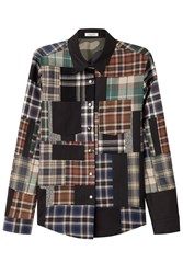 Valentino Patchwork Printed Cotton Shirt With Wool Multicolor