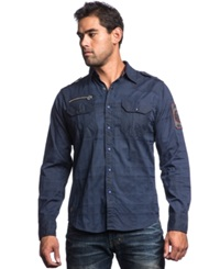 Affliction Dark Dreams Textured Snap Front Shirt