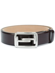 Tod's Logo Buckle Belt Brown
