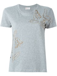 Red Valentino Studded T Shirt Grey