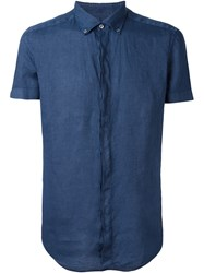 Fay Short Sleeve Shirt Blue