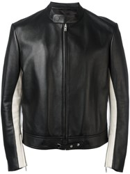 Maison Martin Margiela Elbow Patch Leather Jacket Black