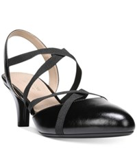 Naturalizer Dasha Strappy Kitten Heel Slingback Pumps Women's Shoes Black