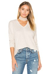 Sundry Terry Long Sleeve In Top Beige