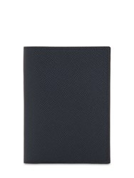 Pineider 720 Medium Leather Card Holder Blue