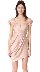 Zimmermann Winsome Drape Cocktail Dress Peony