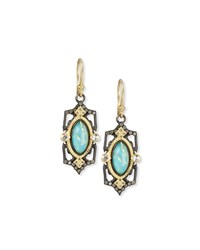 Armenta Old World Midnight Marquis Doublet Earrings