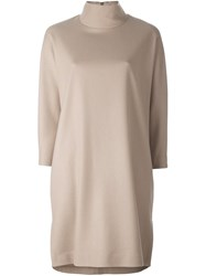 Stephan Schneider High Neck Shift Dress Nude And Neutrals