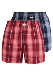 Jockey 2 Pack Boxer Shorts Claret Red