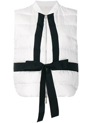 Moncler Gamme Rouge Contrast Tie Gilet White