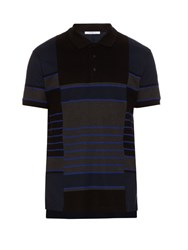 Givenchy Columbian Fit Striped Polo Shirt Blue Multi