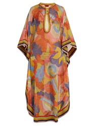 Missoni Mare Abstract Print Fine Knit Maxi Kaftan Multi
