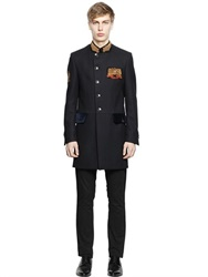 Lords And Fools Wool And Cashmere Blend Military Coat
