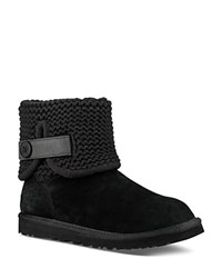 Ugg Shaina Knit Cuff Booties Black