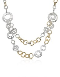 A Z Collection Az Crystal Chain Opera Necklace Gold