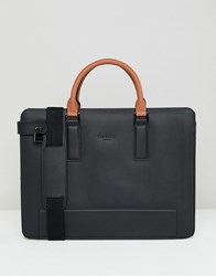 Ted Baker Stark Document Bag In Leather Black