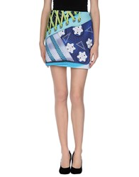 Adidas X Mary Katrantzou Skirts Knee Length Skirts Women Blue