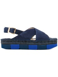 Paloma Barcelo Slingback Sandals Blue
