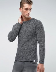 Only And Sons Knitted Sweater In Mixed Yarn Black