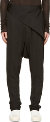 Rick Owens Black Swinger Wrap Harem Trousers