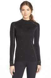 Women's Helly Hansen 'Warm Crystal' Half Zip Wool Blend Base Layer Black