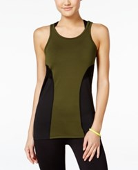 Jessica Simpson The Warm Up Juniors' Compression Tank Top Only At Macy's Riffle Green