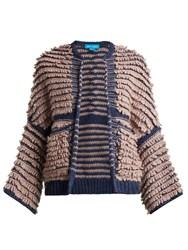 Mih Jeans Alice Loop Knit Cardigan Purple Multi