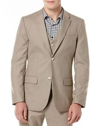 Perry Ellis Big And Tall Textured Suit Jacket Natural Beige