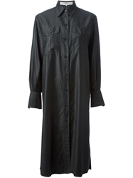Jean Louis Scherrer Vintage Shirt Dress Black