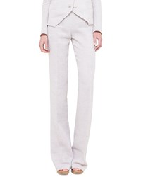 Akris Carla Double Faced Wide Leg Pants Barite