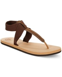 Reef Cushion Moon T Strap Flat Sandals Women's Shoes Brown