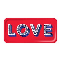 Asta Barrington 'Word' Rectangular Tray Love