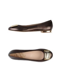 John Richmond Ballet Flats Dark Brown