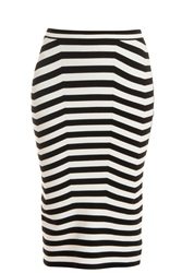Alexander Wang Stripe Pencil Skirt Multi