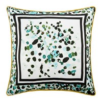 Roberto Cavalli Scamuskin Silk Bed Cushion 40X40cm Teal