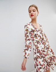Essentiel Antwerp Flippy Dress In Floral Print Multi