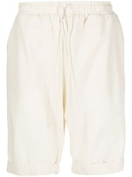 Alchemy Piped Track Shorts Neutrals
