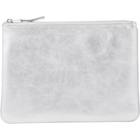 Large Zip Pouch Silver