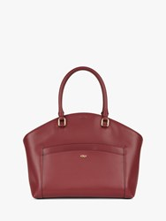 Jaeger Leather Tote Bag Red