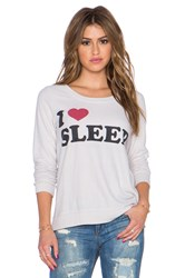 Chaser I Heart Sleep Sweatshirt Cream