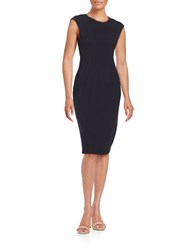 Eliza J Knit Sheath Dress Navy