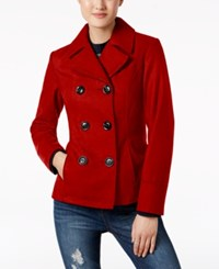 Celebrity Pink Double Breasted Peacoat Red