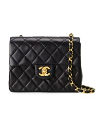 Chanel Vintage Small Quilted Crossbody Bag Blue
