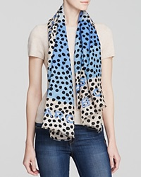 Marc By Marc Jacobs De Lite Dot Square Scarf Conch Blue Multi