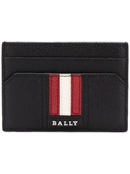 Bally Logo Stripe Cardholder Black