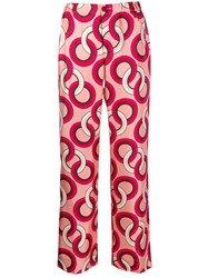 F.R.S For Restless Sleepers Silk Geometric Print Trousers 60