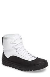 Converse Men's Chuck Taylor All Star Tekoa Water Resistant High Top Sneaker White Black White Leather